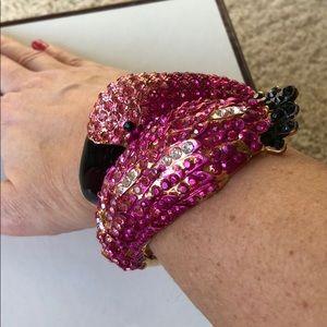 Flamingo crystal bracelet